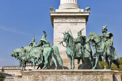 Millennium Monument dedicated to the hungarian kings. Budapest, Hungary. Royalty Free Stock Image