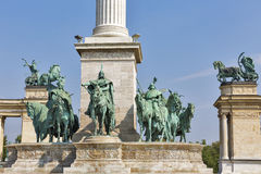 Millennium Monument dedicated to the hungarian kings. Budapest, Hungary. Stock Photography