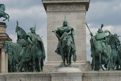 Millennium Monument - Heroes Square - Budapest Stock Photography