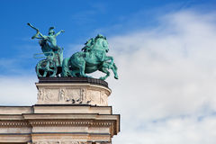 The Millennium Monument at Heroes' Square. Budapest, Hungary Stock Photography