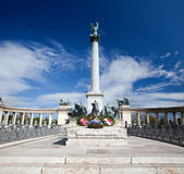 The Millennium Monument at Heroes' Square. Budapest, Hungary Royalty Free Stock Photos