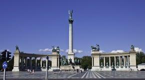 Millennium Monument in Heroes Square Stock Image