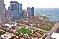 Millennium Park. Aerial View of Millennium Park in Chicago, Illinois Stock Image