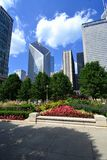 Millennium Park Chicago. May be used for a tourist ad for Millennium Park royalty free stock photo