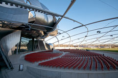 Millennium Park Chicago. Steele Structure of the Jay Pritzker Pavilion at Millennium Park in Chicago Stock Photography