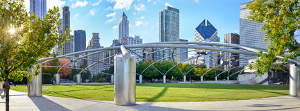 Millennium park chicago stock photos