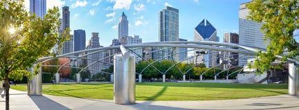 Millennium park chicago. Amphitheatre panorama Stock Photos