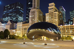 Millennium Park. Chicago. Cloud Gate, also known as the Bean is one of the parks major attractions Stock Photography