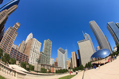 Millennium Park Chicago Fish Eye Stock Image