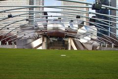 MILLENNIUM PARK, PRITZKER PAVILLION UP CLOSE Stock Photos