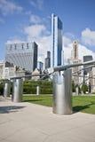 Millennium Park walkway Chicago. Millennium Park walkway in Chicago, Illinois Stock Photos