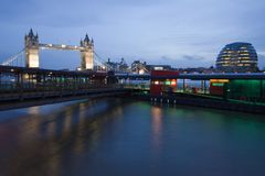 Millennium Pier on the Thames Royalty Free Stock Images