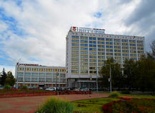 Millennium Square of Vitebsk, Belarus. Hotel complex `Vitebsk Hotel` and Department store - september 2016 stock image