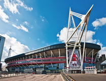 The Millennium Stadium in Cardiff. The Millennium Stadium (Welsh: Stadiwm y Mileniwm), national stadium of Wales, home of the Wales national rugby union team and Stock Photography
