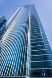 Millennium tower continues to slowly sink and tilt towards the new Salesforce tower Royalty Free Stock Photos