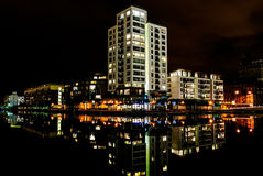 Millennium Tower at night, Dublin Stock Image