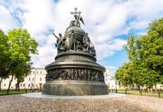Millennium van monument 1862 van Rusland in Novgorod het Kremlin, Russi Royalty-vrije Stock Foto