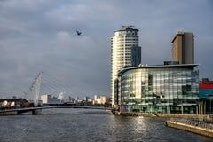 Millenniumbrug Manchester het UK Stock Foto