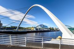 Millenniumbrug Sage Newcastle het UK royalty-vrije stock foto
