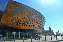 Millenniumcentrum, de Baai van Cardiff Royalty-vrije Stock Foto