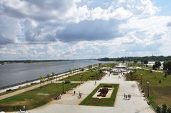 Millenniumpark Yaroslavl Rusland Stock Foto's