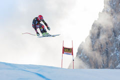 MILLER Bode (USA). VAL GARDENA, ITALY - DECEMBER 21:  MILLER Bode (USA) races down the Saslong competing in the Audi FIS Alpine Skiing World Cup MEN'S DOWNHILL Stock Image