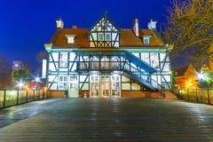 Miller dom na Młyńskiej wyspie w Gdańskim Zdjęcia Royalty Free