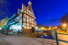 Miller dom na Młyńskiej wyspie w Gdańskim Obraz Royalty Free