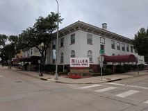 Miller Funeral Home. In downtown Sioux Falls, South Dakota, USA stock photography