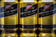 Miller Genuine Draft Beer e logo di marchio di fabbrica fotografia stock