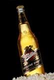 Miller Genuine Draft est le draf emballé filtré par froid original Images libres de droits