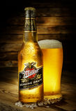 Miller Genuine Draft is the original cold filtered packaged draf Royalty Free Stock Photo