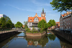 Miller House on Raduni Canal in Gdansk Stock Images