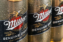 Miller Lager Beer è il prodotto di nave ammiraglia fotografia stock