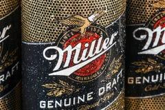 Miller Lager Beer è la nave ammiraglia fotografie stock libere da diritti