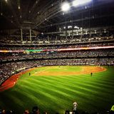 Miller Park. Brewers game at Miller Park royalty free stock photo