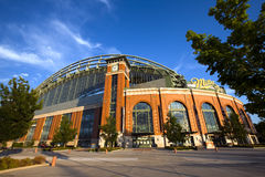 Miller Park Home of the Milwaukee Brewers. Miller Park is a ballpark located in Milwaukee, Wisconsin. It is home to the Milwaukee Brewers and was built as a Royalty Free Stock Photography