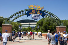 Miller Park Milwaukee Brewers MLB Baseball Stock Photo