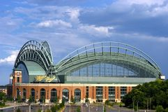 Miller Park, Milwaukee, Roof Open Stock Photography