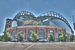 Miller Park stadium in Milwaukee  Royalty Free Stock Photography