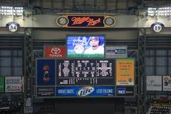 Miller Park Scoreboard Stock Images