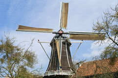 Miller at work on historic windmill the Fortuin, Hattem Stock Photos
