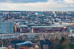 Millerntor Stadion är den hem- stadion av tysk fotbollslagSt Pauli arkivbilder