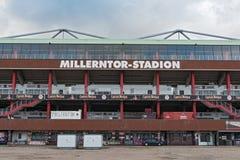 Millerntor stadium futbolu klubu FC St Pauli na Heiliggeistfeld Fotografia Stock