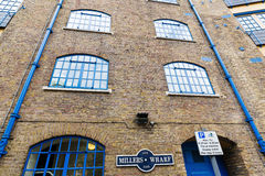 Millers Wharf at St Katharines docks in London Stock Image