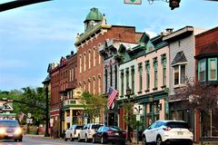 Millersburg Ohio nel paese di Amish fotografie stock libere da diritti