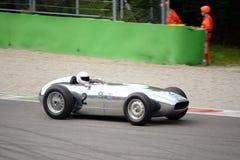 1958 500 milles de listeuse Jaguar de Monza Image libre de droits