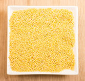 Millet in ceramic plate Royalty Free Stock Photography