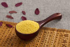Millet. In Chinese style background Stock Photos