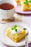Millet and dried apricot  pudding Stock Photos
